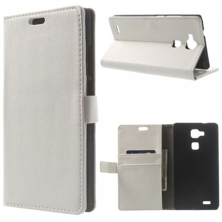 Huawei Ascend Mate7 Leder Case mit Litchimuster - weiss