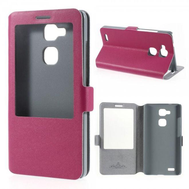 MU Classic Huawei Ascend Mate7 Echtleder Case mit grosser Öffnung - rosa
