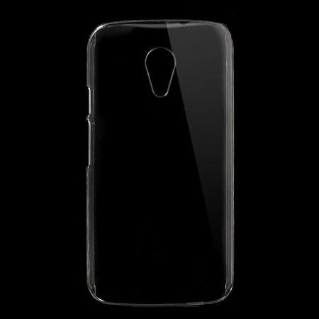Motorola Moto G (2 Gen) Klares Hart Plastik Case - transparent