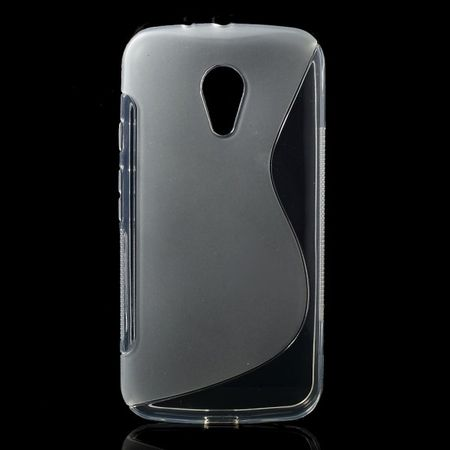 Motorola Moto G (2 Gen) Elastisches Plastik Case S-Shape - transparent