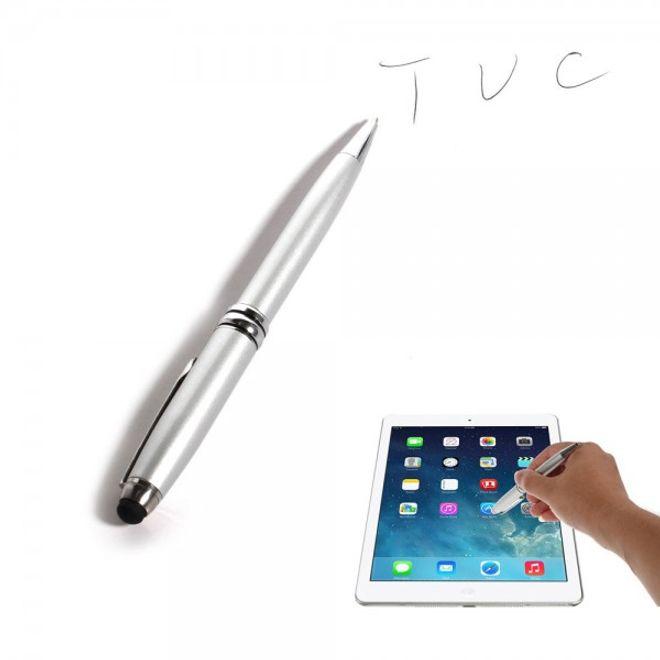 MU Classic 2 in 1 Eingabestift und Kugelschreiber zugleich - silber