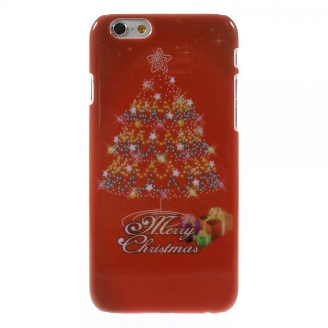 iPhone 6/6S Hart Plastik Case mit schönem Tannenbaum