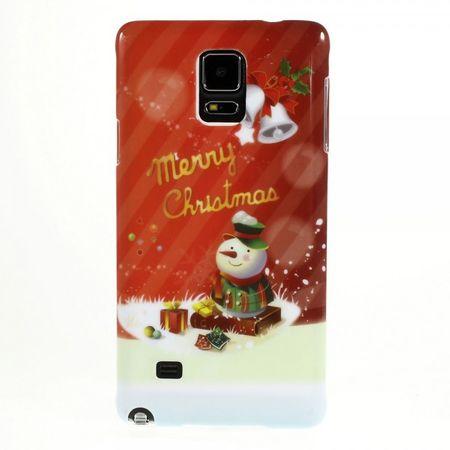 Samsung Galaxy Note 4 Hart Plastik Case mit Glocken und Schneemann