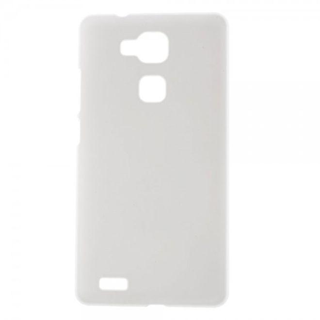MU Classic Huawei Ascend Mate7 Gummiertes Plastik Case - weiss