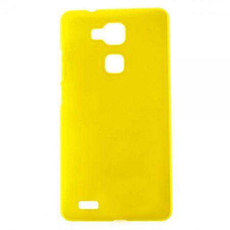 Huawei Ascend Mate7 Gummiertes Plastik Case - gelb