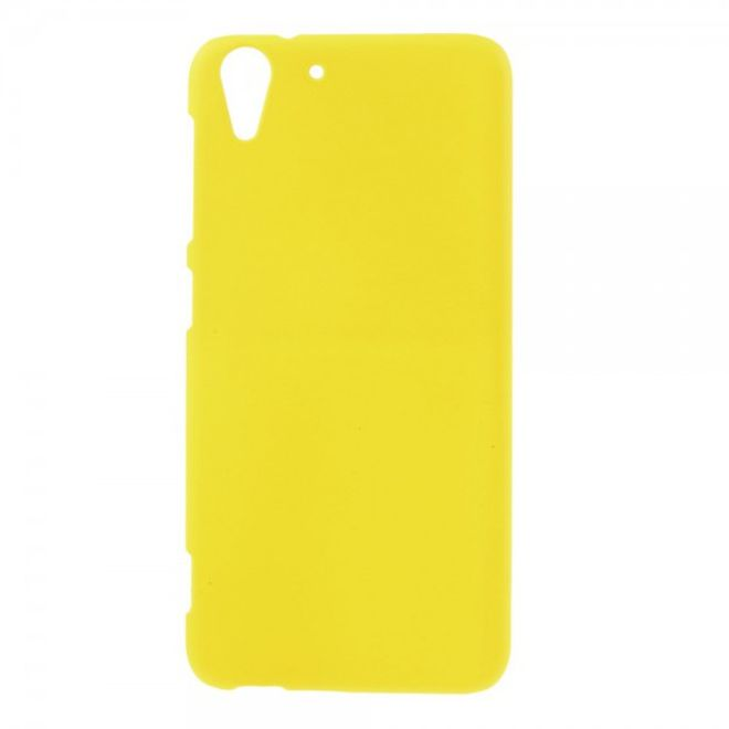 MU Classic HTC Desire Eye Gummiertes Hart Plastik Case - gelb