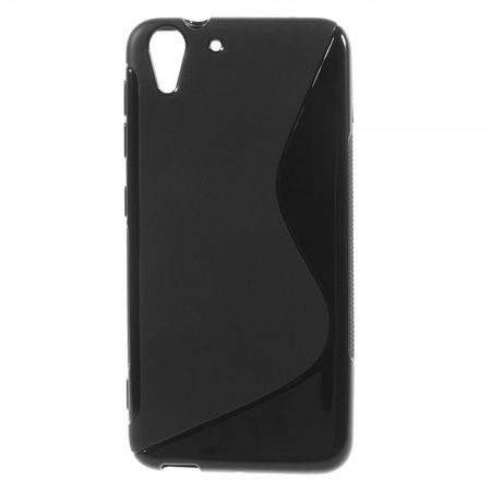 HTC Desire Eye Elastisches Plastik Case S-Shape - schwarz