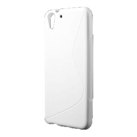 HTC Desire Eye Elastisches Plastik Case S-Shape - weiss