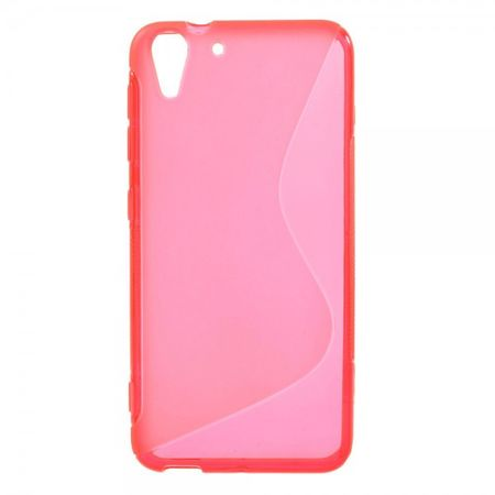 HTC Desire Eye Elastisches Plastik Case S-Shape - rosa