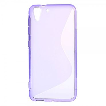 HTC Desire Eye Elastisches Plastik Case S-Shape - purpur