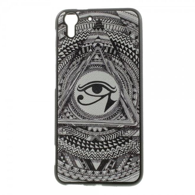 HTC Desire Eye Elastisches Plastik Case mit Auge des Horus