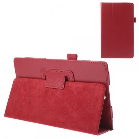 Sony Xperia Z3 Tablet Compact Leder Case mit Litchimuster - rot