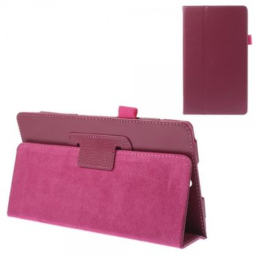 Sony Xperia Z3 Tablet Compact Leder Case mit Litchimuster - rosa