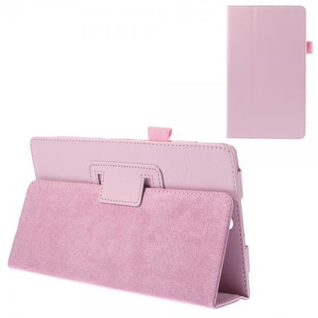 Sony Xperia Z3 Tablet Compact Leder Case mit Litchimuster - pink