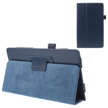 Sony Xperia Z3 Tablet Compact Leder Case mit Litchimuster - dunkelblau