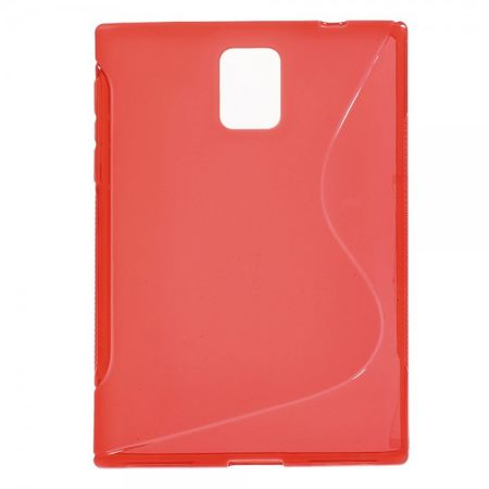 BlackBerry Passport Q30 Elastisches Plastik Case S-Shape - rot