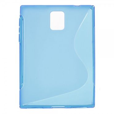 BlackBerry Passport Q30 Elastisches Plastik Case S-Shape - blau