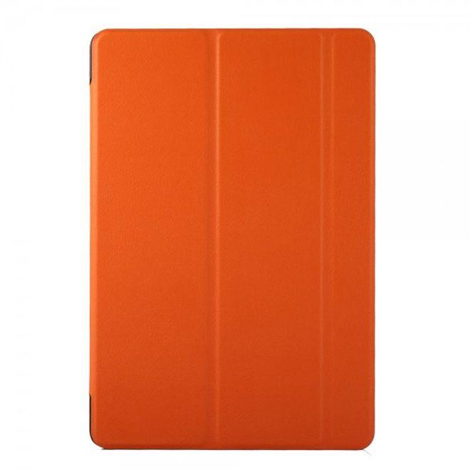 HTC Nexus 9 Dreifach gefaltetes Leder Case mit Standfunktion - orange