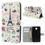 Motorola Nexus 6 Leder Case mit Eiffelturm und kleinen Sujets