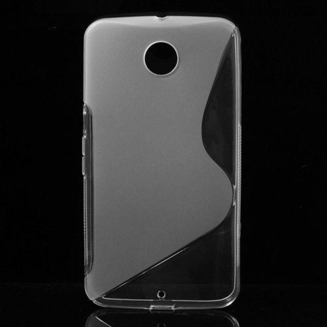 Motorola Nexus 6 Elastisches Plastik Case S-Shape - transparent