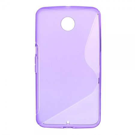 Motorola Nexus 6 Elastisches Plastik Case S-Shape - purpur