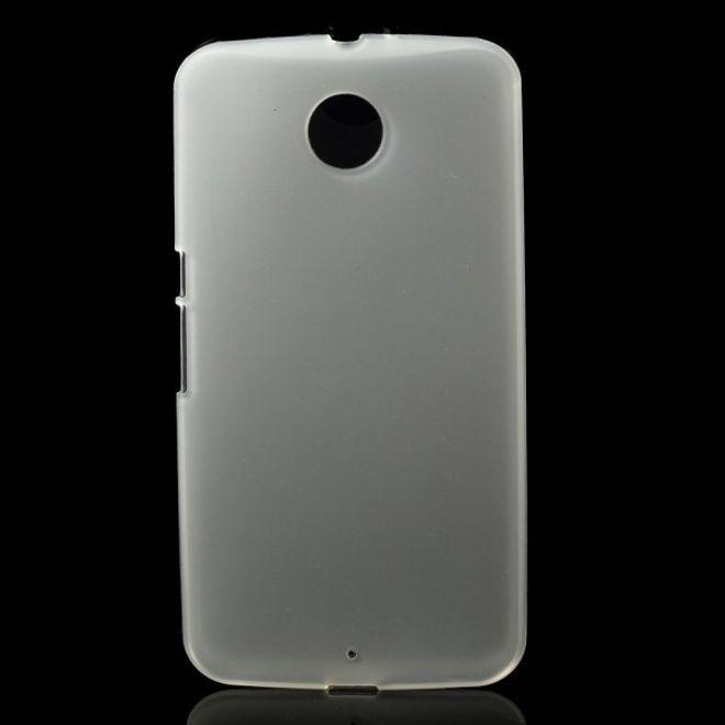 MU Classic Motorola Nexus 6 Elastisches, mattes Plastik Case - transparent