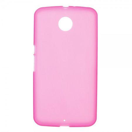 Motorola Nexus 6 Elastisches, mattes Plastik Case - rosa