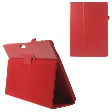 Microsoft Surface Pro 3 Leder Case mit Litchimuster - rot