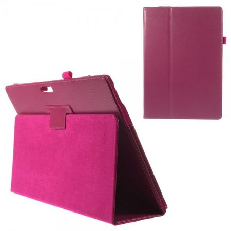 Microsoft Surface Pro 3 Leder Case mit Litchimuster - rosa