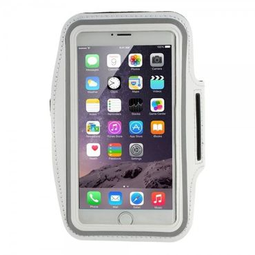 iPhone 6 Plus Sport Armband Case - weiss