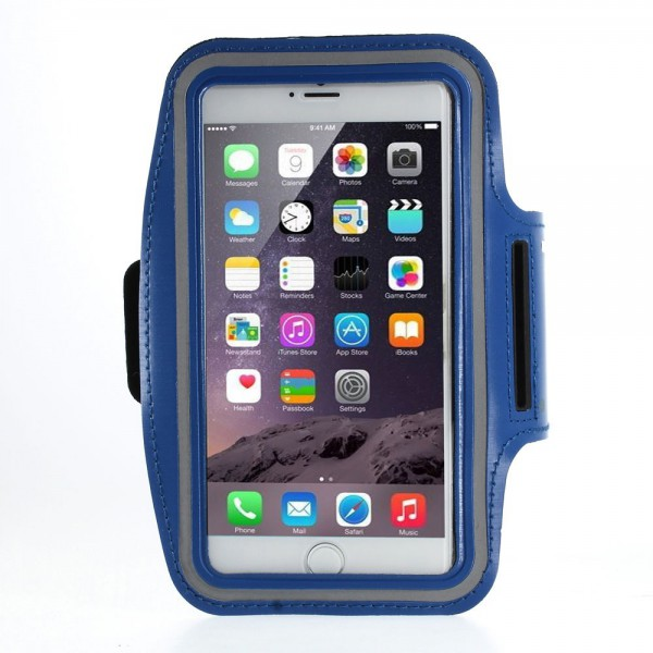 iPhone 6 Plus Sport Armband Case - dunkelblau