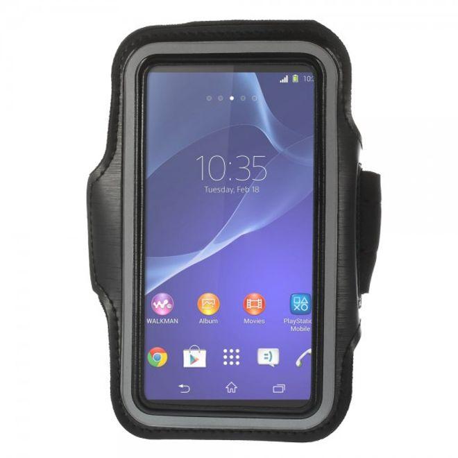 MU Classic Sony Xperia Z2 Sport Armband Case - schwarz