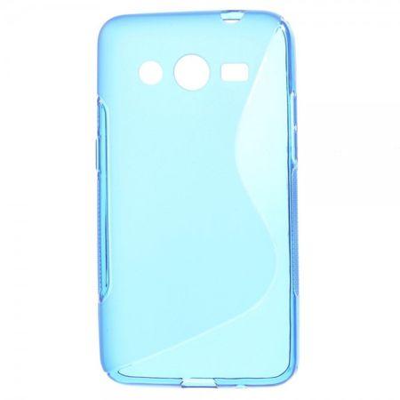 Samsung Galaxy Core 2 Elastisches Plastik Case S-Curve - blau