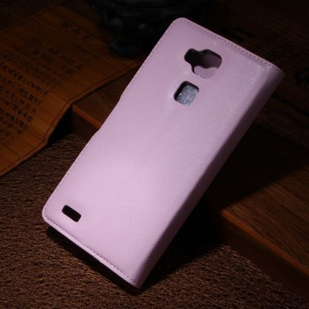 Huawei Ascend Mate7 Magnetisches Leder Case mit Litchimuster - pink