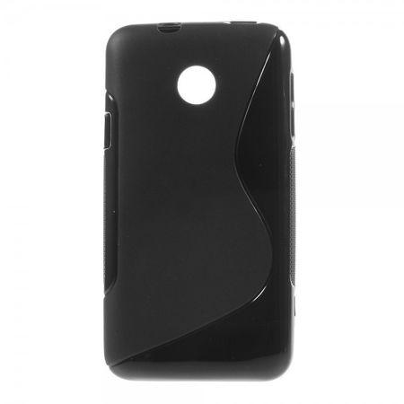 Huawei Ascend Y330 Elastisches Plastik Case S-Curve - schwarz