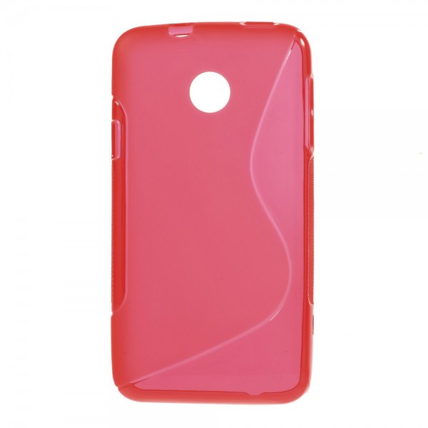 Huawei Ascend Y330 Elastisches Plastik Case S-Curve - rot