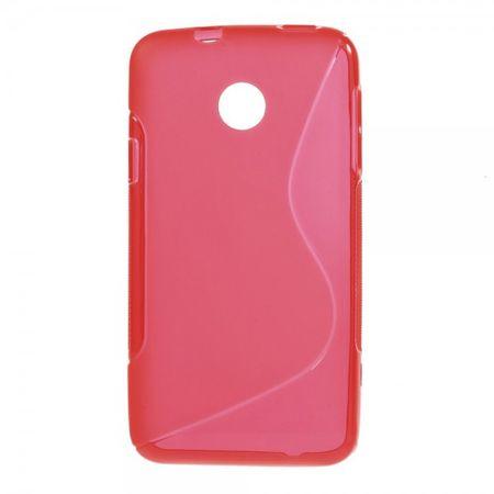 Huawei Ascend Y330 Elastisches Plastik Case S-Curve - rot