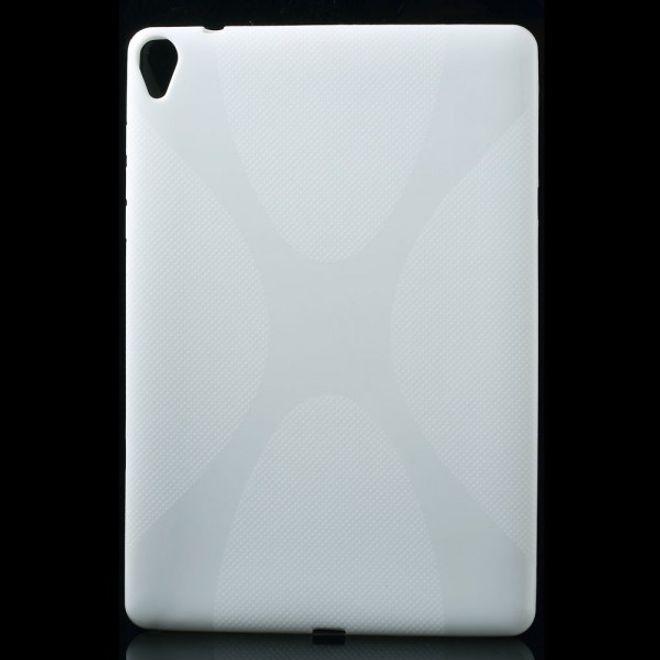 MU Classic HTC Google Nexus 9 Elastisches Plastik Case X-Shape - weiss
