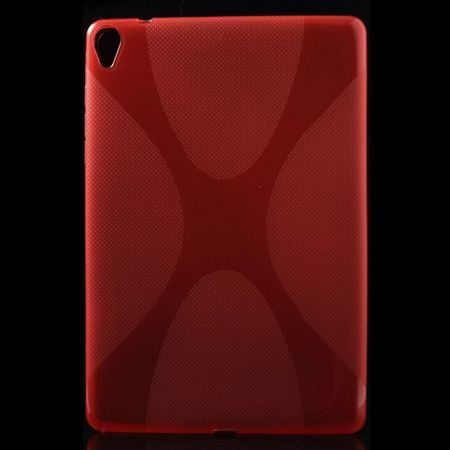HTC Google Nexus 9 Elastisches Plastik Case X-Shape - rot