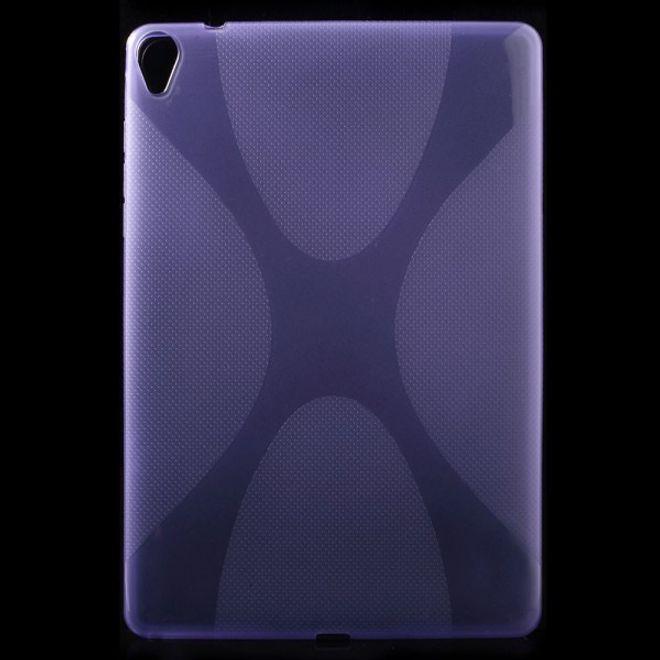 HTC Google Nexus 9 Elastisches Plastik Case X-Shape - purpur