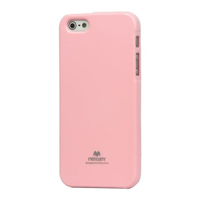 Goospery Goospery - iPhone SE/5S/5 Handy Hülle - TPU Soft Case - Pearl Jelly Series - rosa