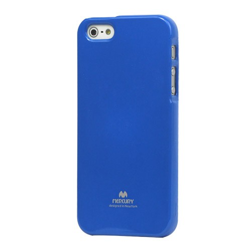 Goospery iPhone SE/5S/5 Elastisches Mercury Plastik Case - blau