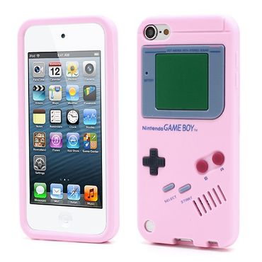 iPod Touch 5/6 Silikon Case im Gameboy Design - pink