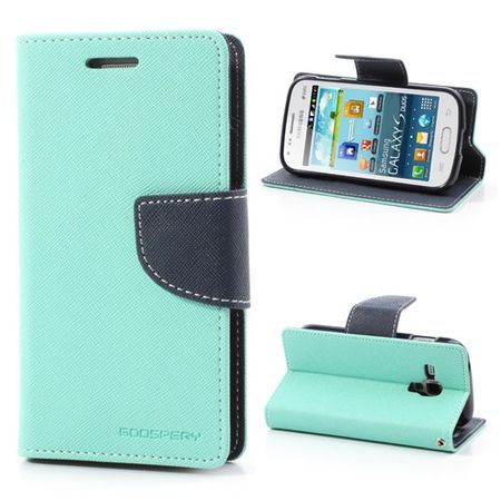 Goospery - Samsung Galaxy S Duos Hülle - Handy Bookcover - Fancy Diary Series - mint/navy