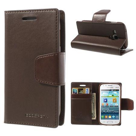 Samsung Galaxy S Duos Mercury Sonata Diary Leder Case - kaffeefarben