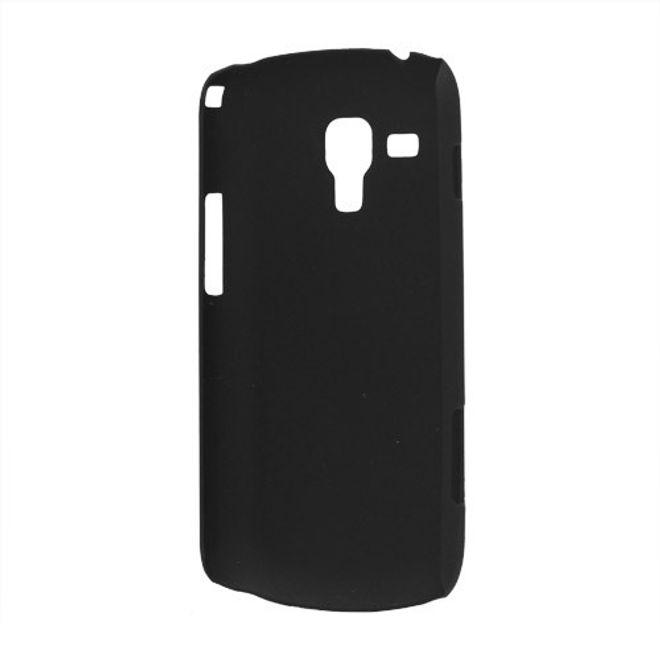 Samsung Galaxy S Duos Gummiertes Plastik Case - schwarz