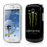 Samsung Galaxy S Duos Hart Plastik Case mit Energy Drink Monster Logo