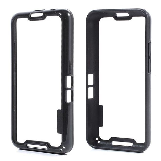 BlackBerry Z30/Aristo Elastischer Plastik Bumper - schwarz