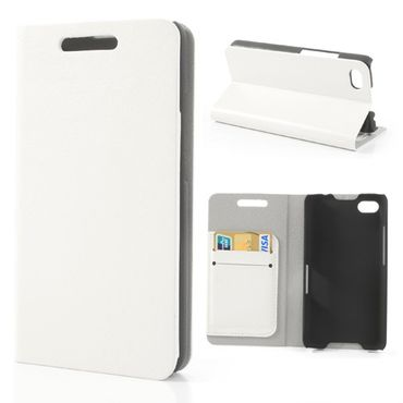 BlackBerry Z30/Aristo Crazy Horse Leder Case - weiss