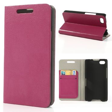 BlackBerry Z30/Aristo Crazy Horse Leder Case - rosa